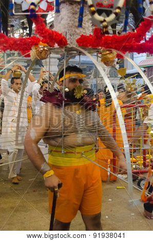 Man Carrying A Kavadi
