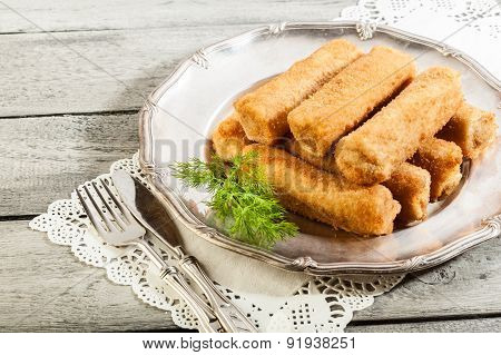 Delicious Croquettes With Meat On A Plate