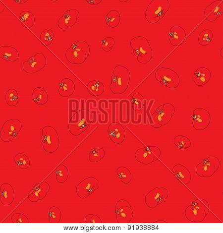 tomatos seamless pattern. heathy food vector illustration