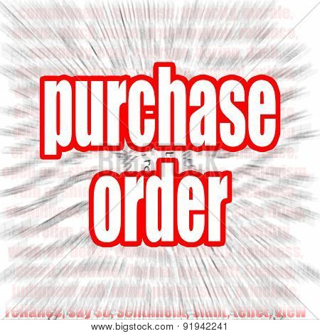 Purchase Order Word Cloud