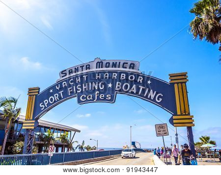 The Welcoming Arch Of Santa Monica Pier