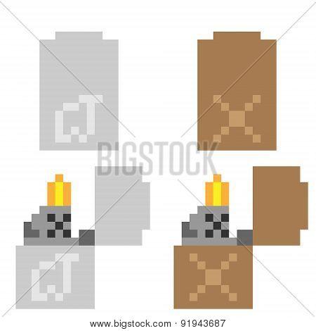 illustration pixel art icon lighter
