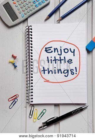 Enjoy Little Things Word