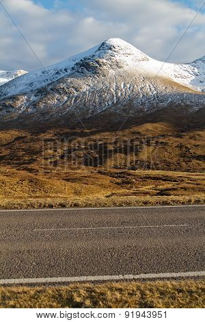 An Amazing Scenic View Of Mountains In The North Of Scotland