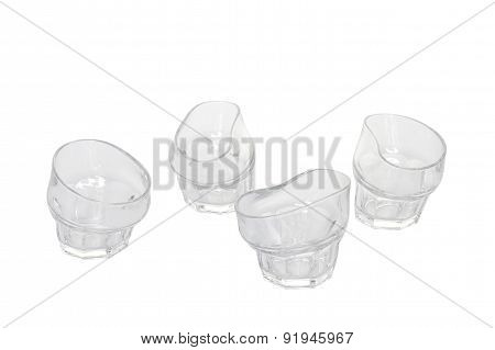 Collection of empty glassware