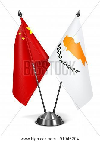 China and Cyprus - Miniature Flags.