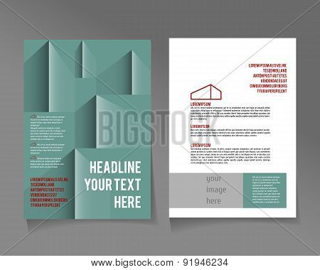 A4 poster template for design