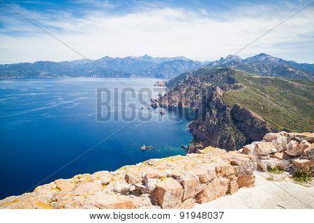 Landscapes round Porto in Corsica