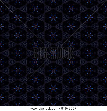 Seamless Abstract Black Dotted Geometric Texture Or Background