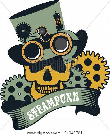 Steampunk Mechanism Skull