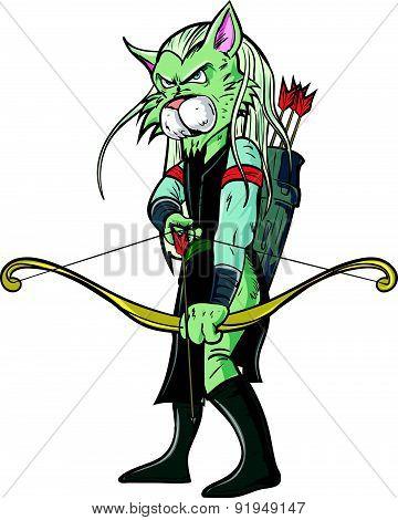 Cartoon elf warrior