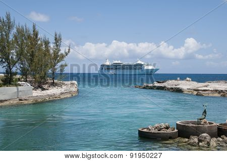 Anchored Ship