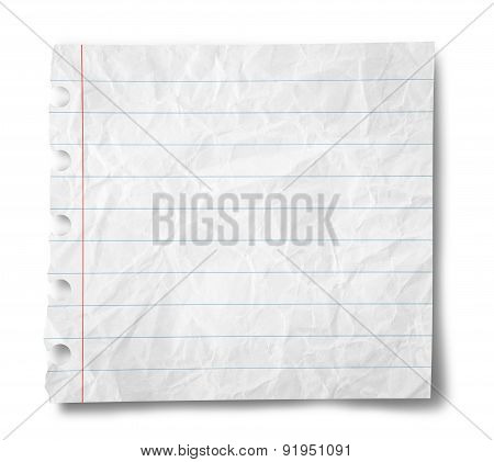 Blank Crumpled Paper Sheet