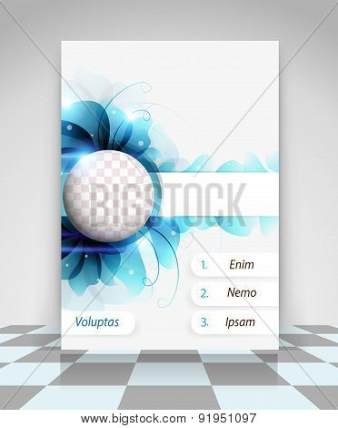 Blue Flowers Business Flyer Design