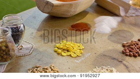 Spices And Grains On The Table