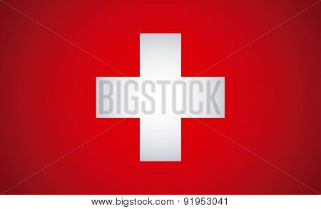 Swiss Flag vector illustration
