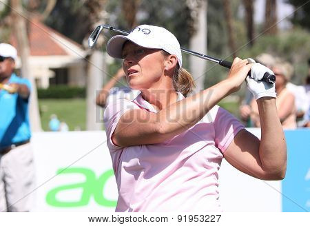 Angela Stanford At The Ana Inspiration Golf Tournament 2015