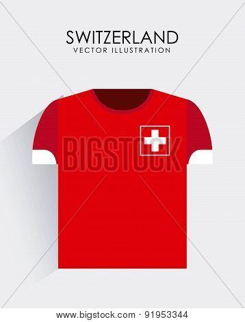 Swiss design over gray background vector illustration