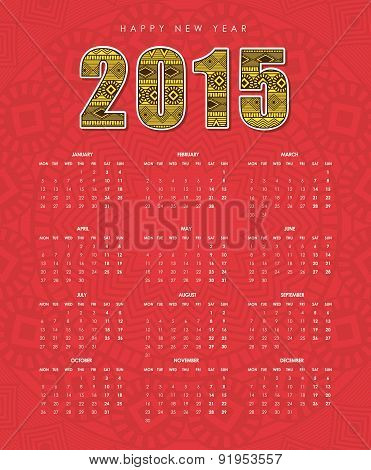 New year design over red background vector illustration
