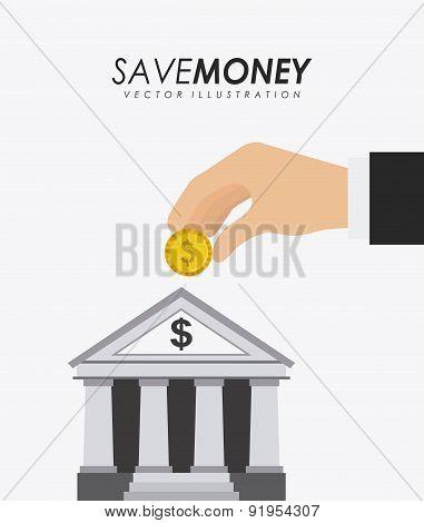 Bank design over white background vector illustration