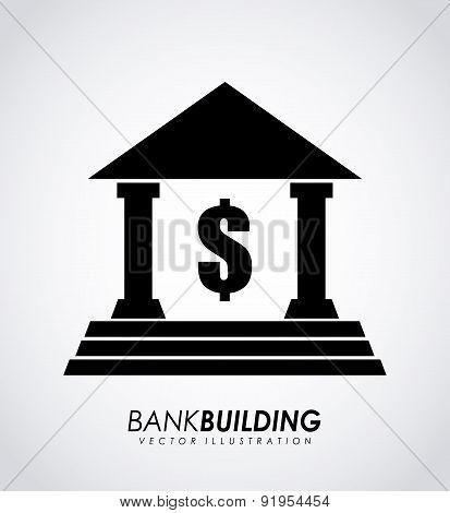 Bank design over gray background vector illustration