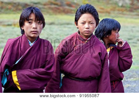 Students Of Crystal Mountain School In Dho Tarap Village, Nepal