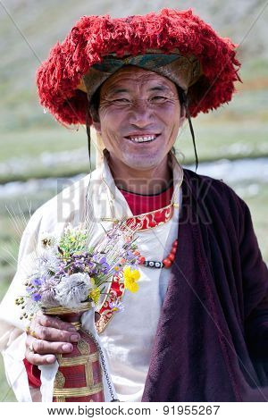 Nomad Man In Dolpo, Nepal