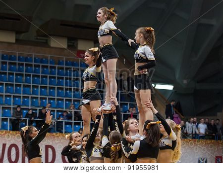 Acrobatic Show Cheerleaders