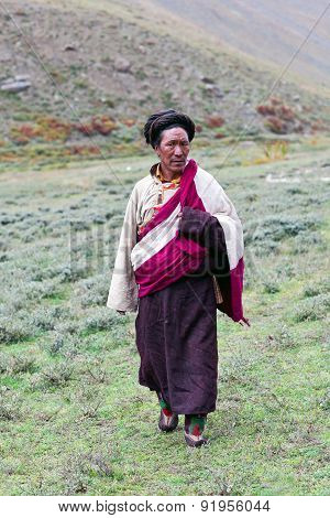 Ngakpa Man In Dolpo, Nepal