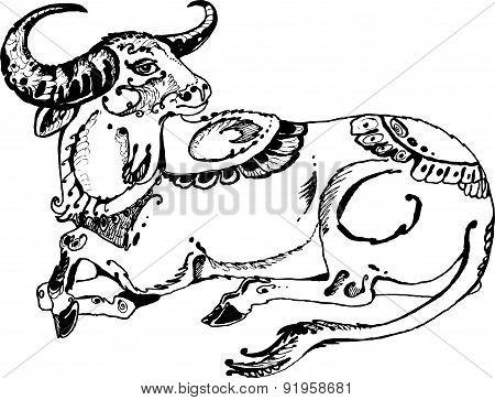 Indian sacred bull
