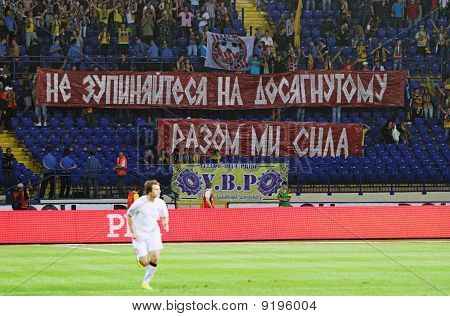 Fans Deployed Banner During Metalist Vs. Krivbass