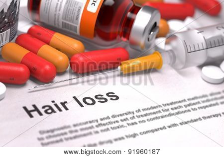 Hair Loss. Medical Concept.