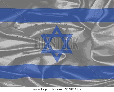 Israel Silk Flag