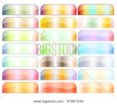 Colorful button collection over white background
