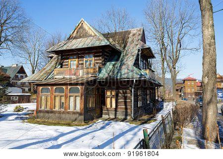 Wooden Residential House Built About 1905 In Zakopane