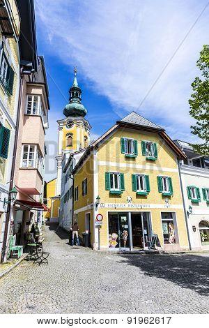 Rinnholz Square In  Gmunden, Austria