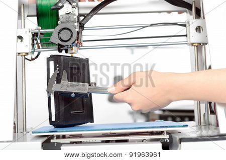 Three-dimensional printing in process