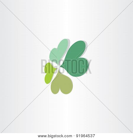 Four Leafs Clover Luck Symbol