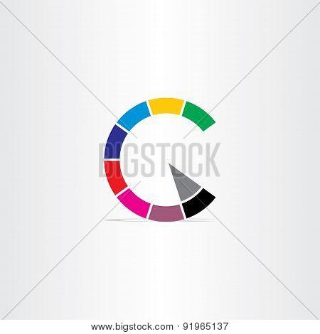 Letter C Color Copyright Symbol