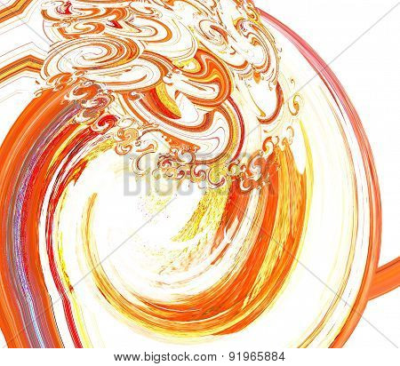 digital graphical art artistical illustration painting red purple yellow white brown swirl twirl rot