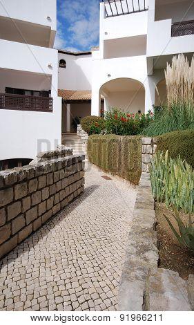 White Holiday Villa And Stone Path(algarve, Portugal)