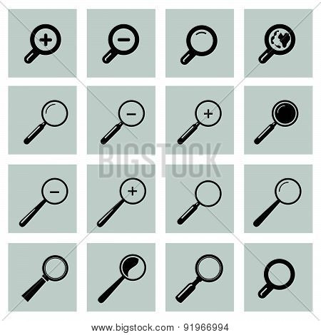 Vector Set With Search Icon.