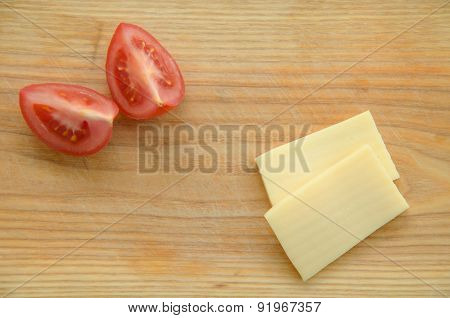 Slices Of Tomato And Cheese
