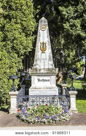 Last Resting Place Of Composer Ludwig Van Beethoven At The Vienna Central Cemetery