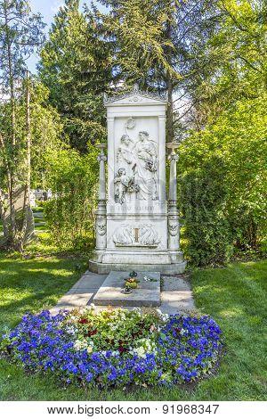 Franz Schubert Memorial In Zentralfriedhof, Vienna, Austria
