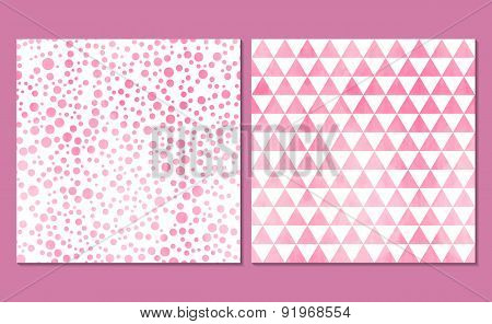 Set of 2 watercolor patterns