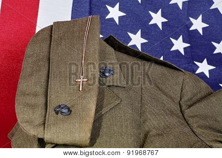 United States Military American Faith Pendant And American Flag