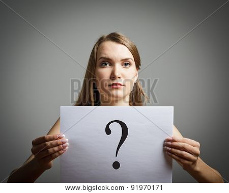 Girl In White And Question.