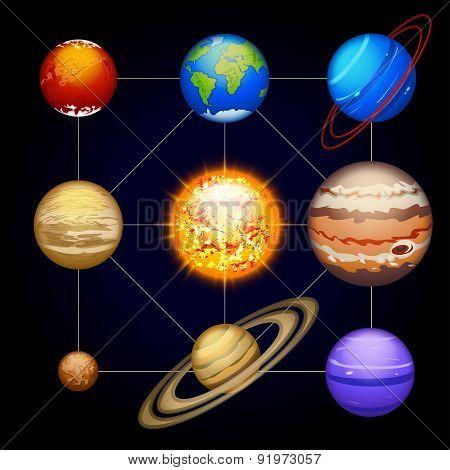 solar system planet set