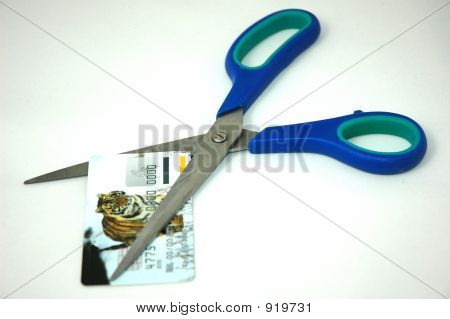 Credit Card And Scissors